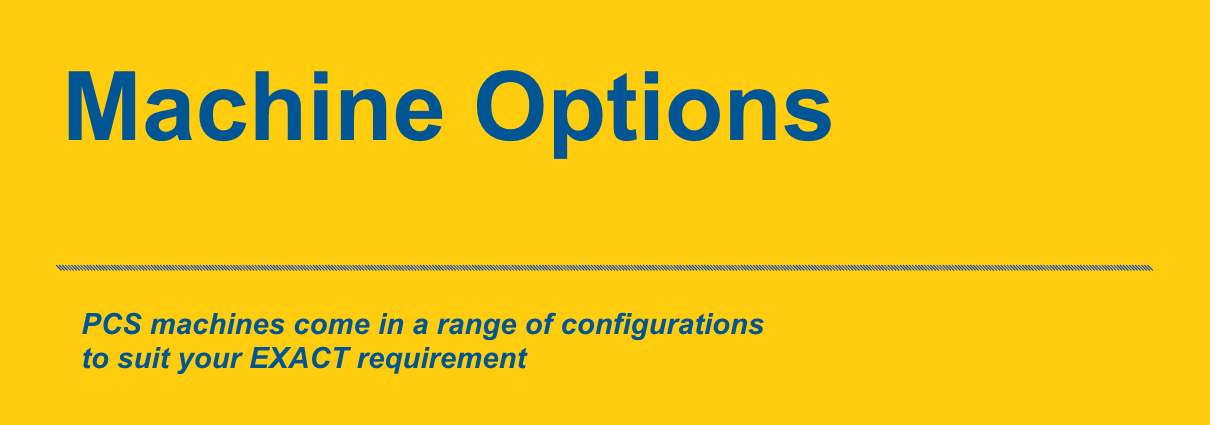 PCS Machine Options Banner