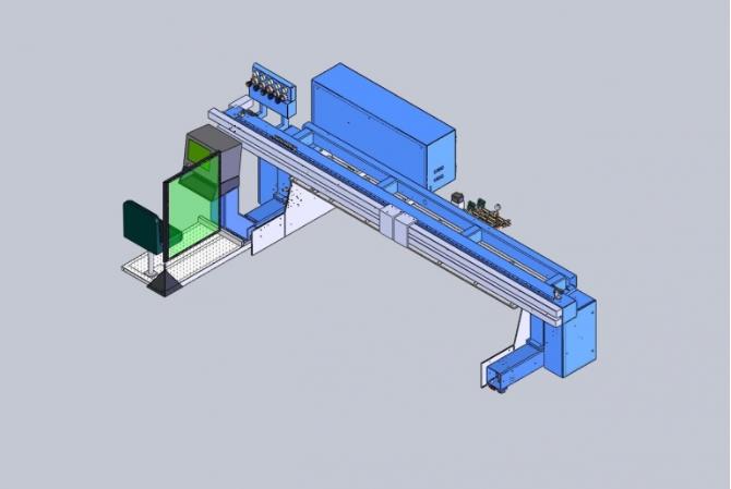 PCS Plasma Cutting & Drilling Machine Diagram