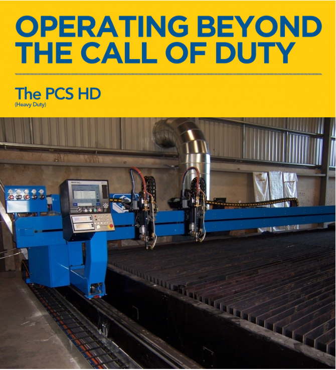 PCS Heavy Duty Plasma Cutting Machine Banner